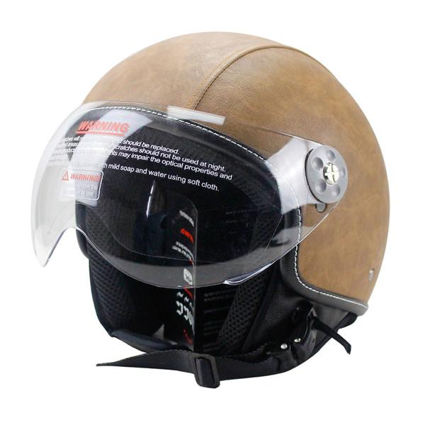 Helmet, leatherhelmet, cruiserscootertouring, motorcycle helmet