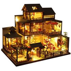 largevilladollhouse, led, woodendollhouseset, birthdaygiftforkid