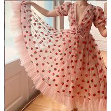 pink, dressforwomen, rufflehem, ruffle