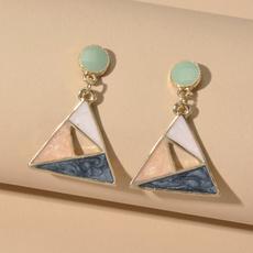 colorblockingearring, contrastcolorearring, starryskyearring, Jewelry