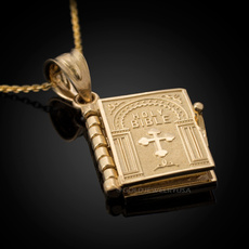 yellow gold, Fashion, bookpendant, Cross Pendant