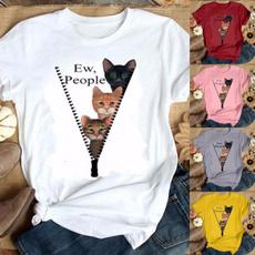 Funny T Shirt, Cotton T Shirt, letter print, Plus Size