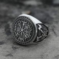 Mens Ring, Steel, amuletring, Stainless Steel