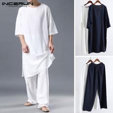 kimonoshirt, homewear, Plus Size, cottonlinen