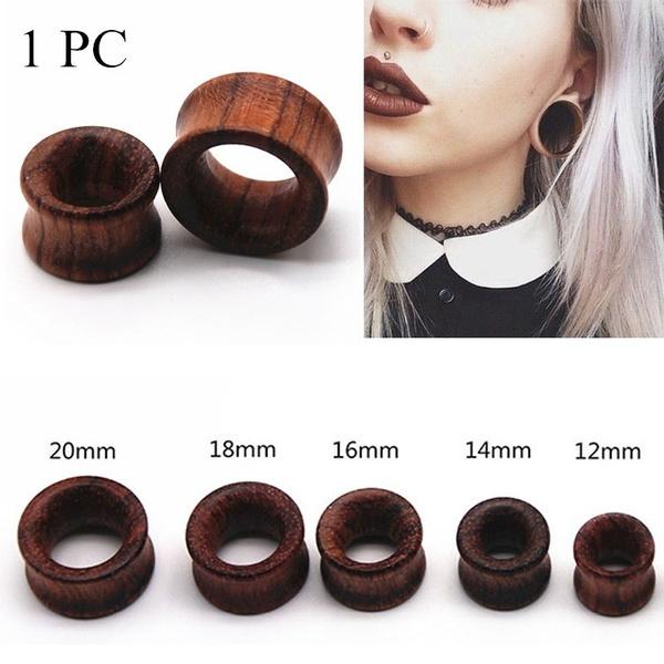Wood, earplug, punk earring, earpiercing