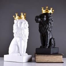 King, Office, lionking, lionstatue