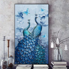 peacockdiamondpainting, peacock, Full, crossstitch