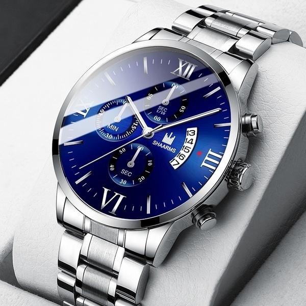 Steel, Chronograph, quartz, chronographwatche