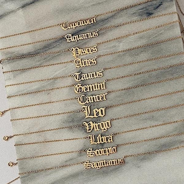 Jewelry, necklace pendant, virgo, 12constellation