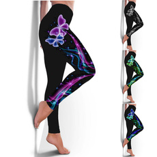 butterflyprint, butterfly, Plus Size, pants