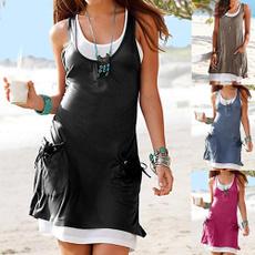 Women's Fashion, Mini, Dress, beach wear