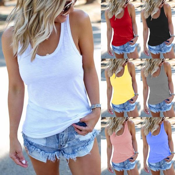 Summer, Vest, Plus Size, Tank