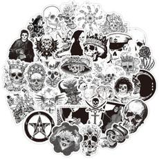 Car Sticker, Goth, skullsticker, Waterproof