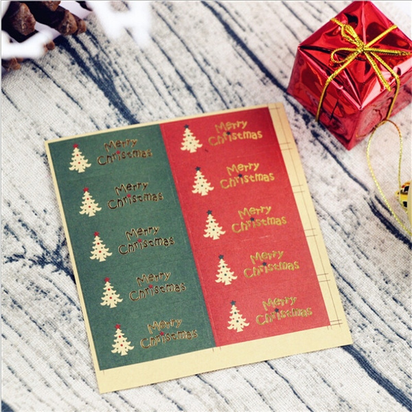 hotstampingsticker, packagingsticker, Christmas, Gifts