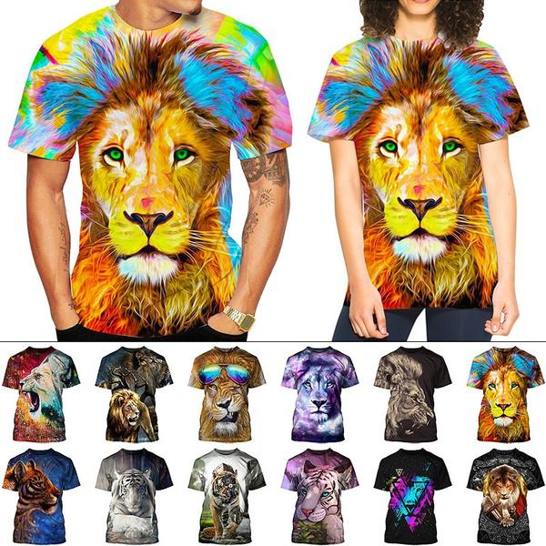 Tiger, Shorts, Sleeve, animal print