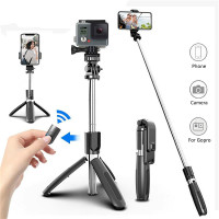 CAOMING 30-93cm Grip Foldable Tripod Holder Multi-Functional Selfie Stick Monopod for GoPro HERO5 Session//Phone//Xiaoyi Sport Cameras Durable