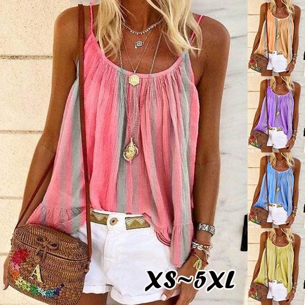 blouse, Summer, fashion women, Spaghetti Strap