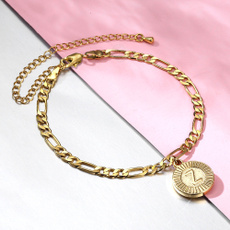Steel, goldplated, Anklets, Chain