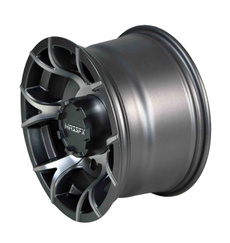 Wheels, 12x7, gunmetal, 4156
