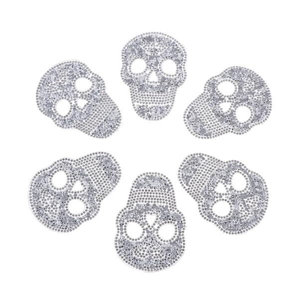 rhinestonesequinspatch, skull, decorativepatche, Sewing