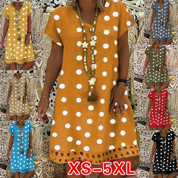 Summer, short sleeve dress, Necks, Dress