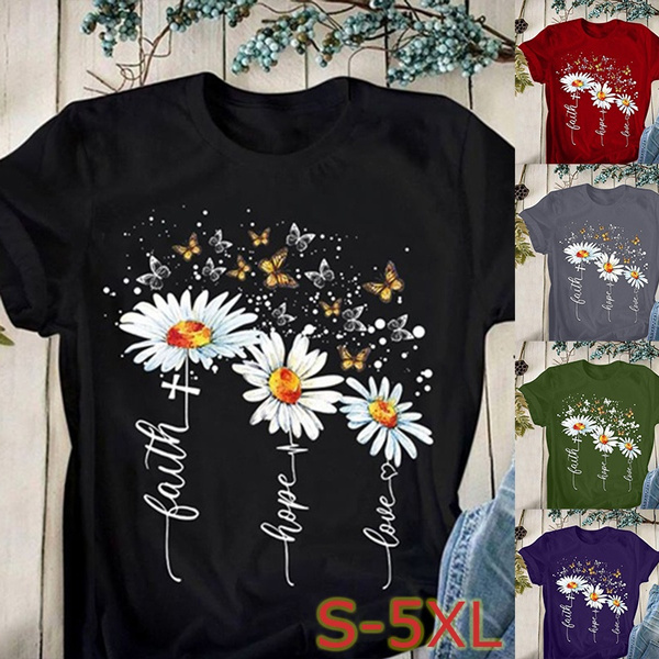 Summer, faithtshirt, womentshir, print shirt