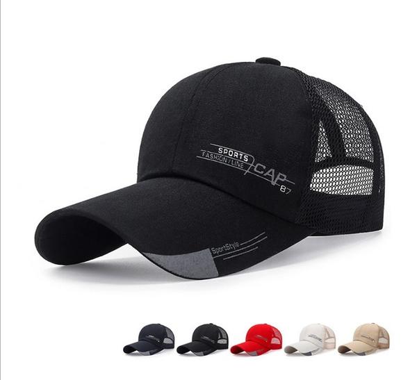 Summer, Adjustable Baseball Cap, Outdoor, Trucker Hats