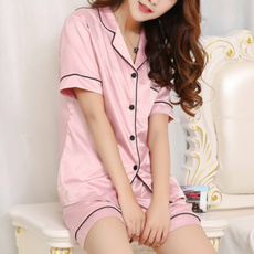 women's pajamas, nightwear, silk, Shirt