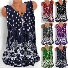 blouse, Summer, fashion women, Plus Size