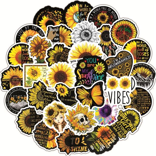 Car Sticker, luggagesticker, Computers, Sunflowers