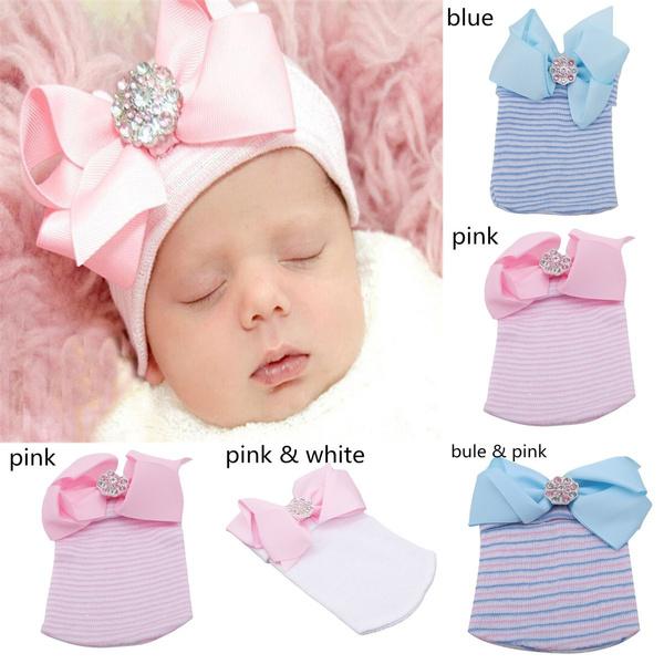 bowknot, newborncap, winter cap, Winter