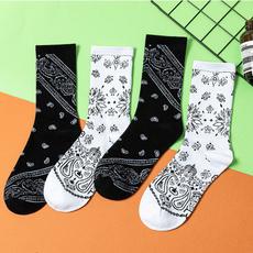 Summer, paisley, Cotton Socks, korea