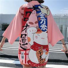 yukata, Coat, luckycatkimono, yukatacoat