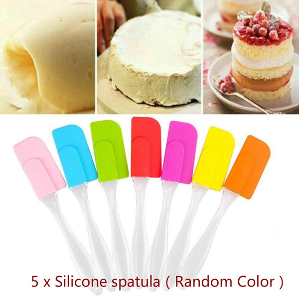 Silicone Rubber Spatula For Cooking Baking Cake Butter Kitchen Utensil