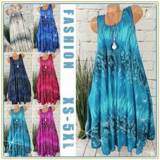 sleeveless, Plus Size, long dress, Dress