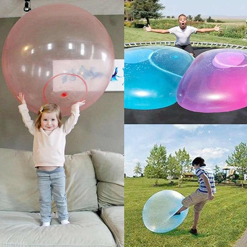Kids Soft Bubble Ball Wubble Squishy Play Firm Super Stretch Transparent Sports