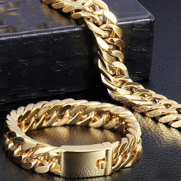 Men Jewelry, 24kgold, hip hop jewelry, goldplated