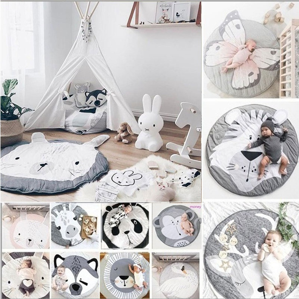 Cotton, Blanket, decorativecarpet, crawlingmat