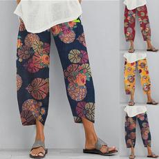 elastic waist, Floral print, Waist, pantsforwomen
