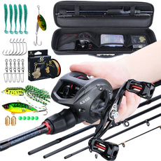 fishingset, case, baitcastingreel, castingreel