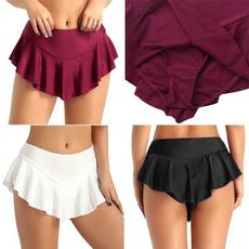 Shorts, women's pants, solidcolorskirt, Dress