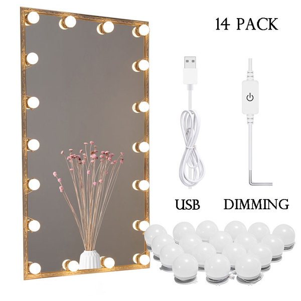 2 6 10 14pack Set Usb Led Mirror Light