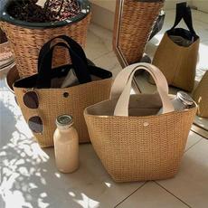 Summer, Capacity, strawbag, bucketsbag