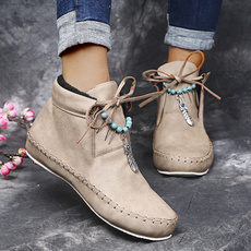 ankle boots, Plus Size, Suede, leather