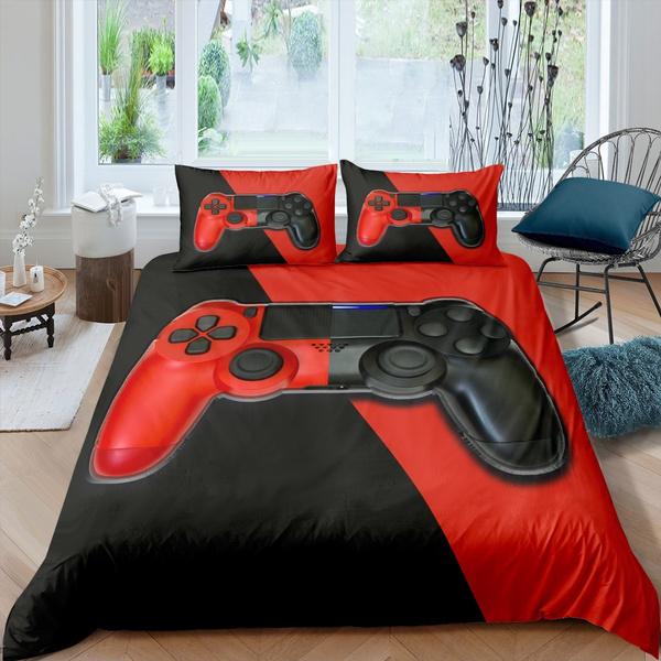 cutecomforterset, videogamegamepadcomfortercover, teensbeddingset, Video Games