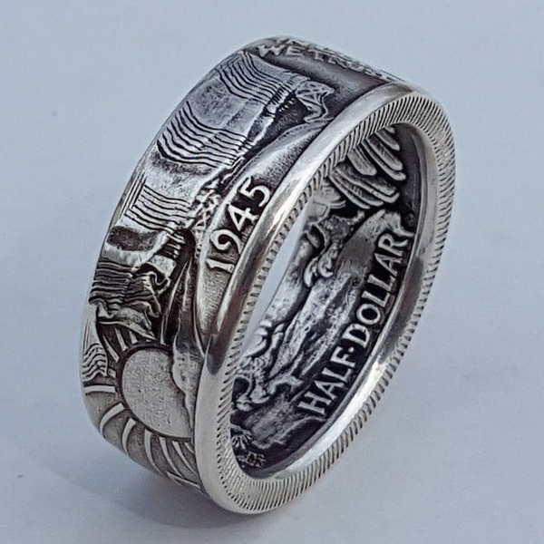 Unique 1847 United States of America Large Cent Coin Ring