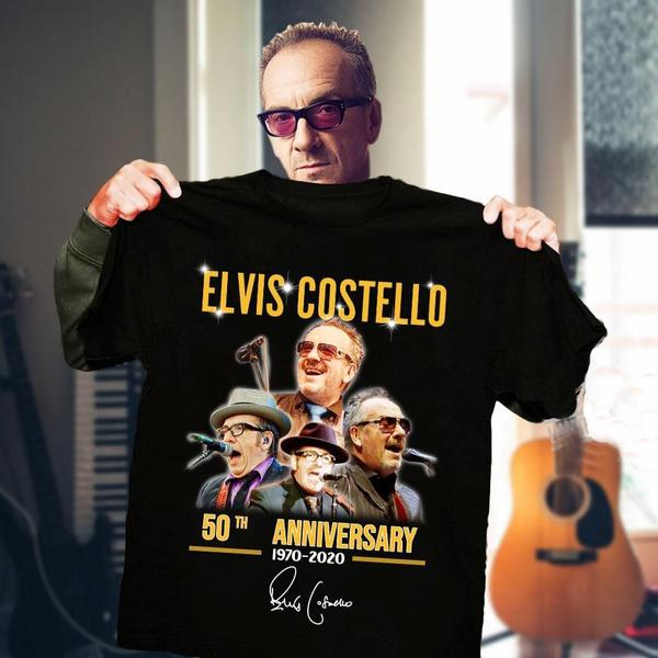 elviscostellosignaturesshirt, Cotton T Shirt, couplewear, unisex