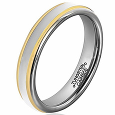 goldplated, 6mm, wedding ring, gold