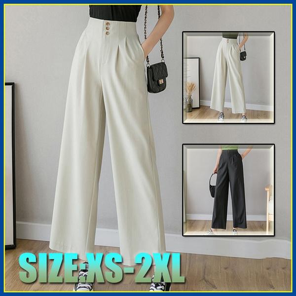 Summer, trousers, wideleg, high waist