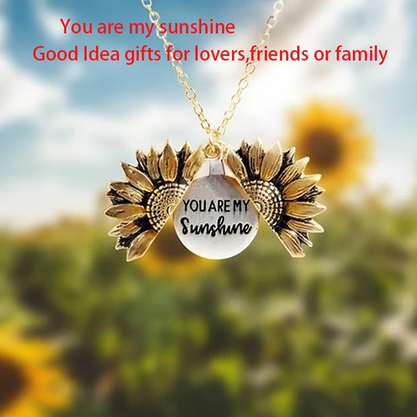 Jewelry, Gifts, Sunflowers, sunflowernecklace